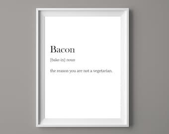 Funny Bacon Etsy