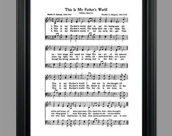 Hymn lyrics | Etsy
