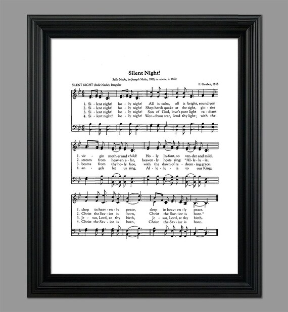 I Wont Be Home For Christmas Lyrics.Silent Night Christmas Song Lyrics Christmas Sheet Sheet Music Home Decor Holiday Gift Instant Download Hymn 032