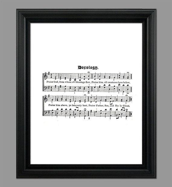 Doxology Hymn Lyrics - Hymnal Sheet - Sheet Music- Home Decor -  Inspirational Art - Gift - Instant Download - #HYMN-018