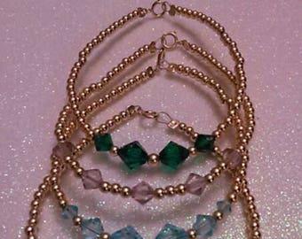 January - December Single Birthstone Bracelet