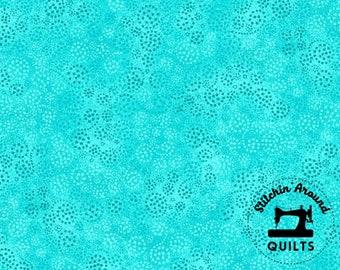 1817 39055 470 Swirled Dots Light Turquoise Sparkles Essentials Wilmington Prints