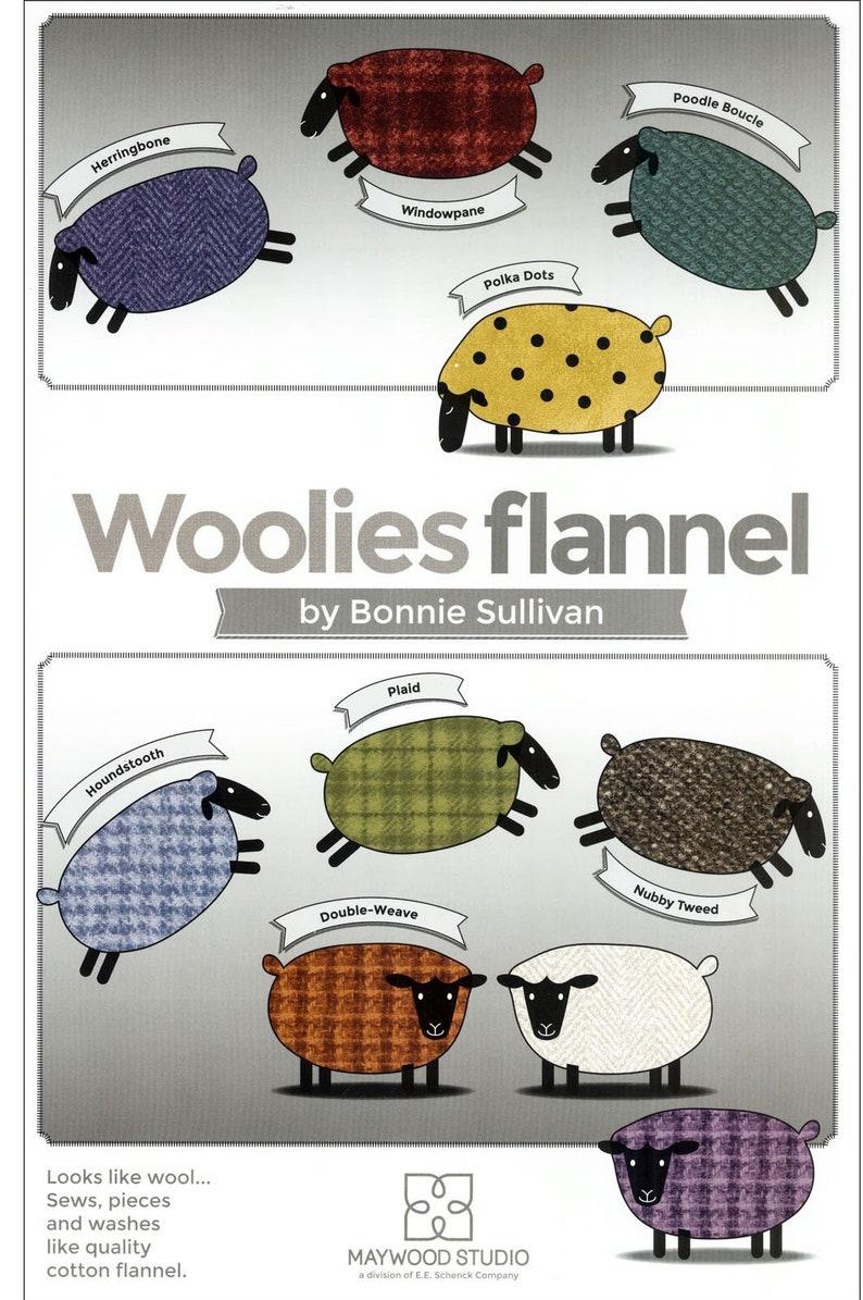 F18507-R Red Nubby Tweed Bonnie Sullivan WOOLIES FLANNEL Maywood Studio Fat Quarter By the Yard