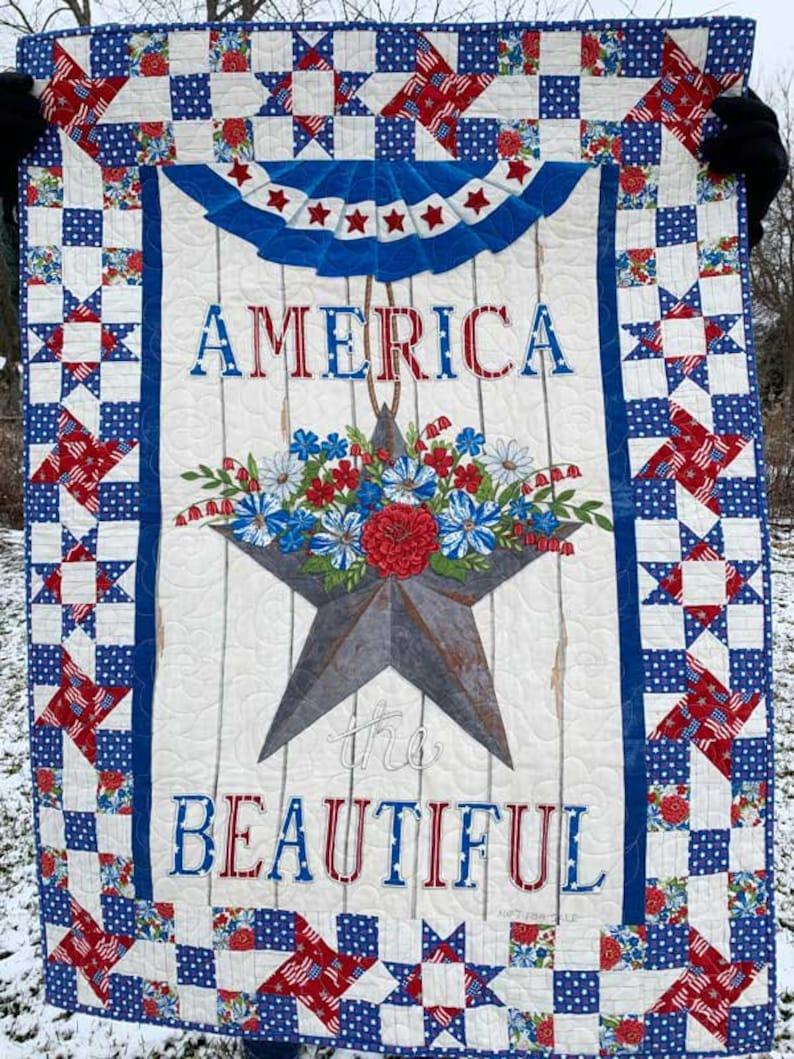 Waving Stripes 19985 14 America The Beautiful Lake Blue and White Moda Deb Strain