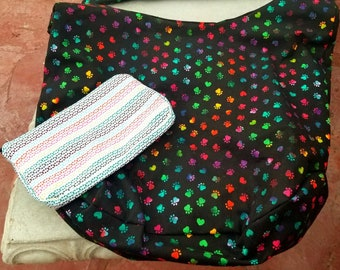 Hobo handbag/ reusable grocery bag