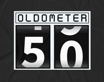 b2f04c94 Oldometer Shirt • 50th Birthday Gift • 50 Years Old • Funny 50th Birthday  Gift • Old Birthday Gag Gift • Birthday T-Shirt • Fifty Years
