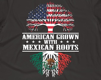 5bfaa8818085 American Mexican Roots • America Mexico Shirt • Mexican Flag Gift • Mexican  American • Mexico Gifts • Mexican American Grown Flag Shirt