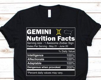 6f96e22ffac292 Gemini Shirt • Gemini Zodiac Shirt • Gemini Gift • Gemini Birthday Gift •  Gemini Zodiac Sign • Gemini Astrology T-Shirt • Gemini Facts