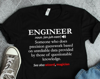aa1b8b20bc Engineer Gift • Engineer Definition Shirt • Engineer Tshirt • Gifts For  Engineers • Electrical Engineer • Mechanical Civil Computer Engineer