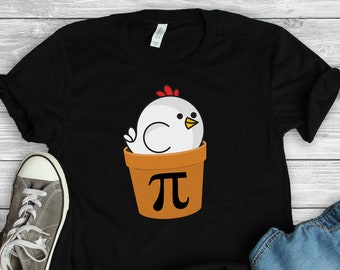 0be3509e Chicken Pot Pi Shirt • Pi Day T-Shirt • Math Shirt • Funny Math Gift • Math  Teacher Shirt • Math Teacher Gift • Mathematics Major Shirt