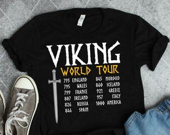 8a4b95b3 Viking Shirt • Viking World Tour • Funny Viking Gift • Norse Mythology •  Viking T-Shirt • Viking History Shirt • History Teacher Shirts
