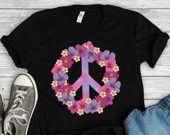 34bd32bd9 Peace Sign • Flower Shirt • Peace Shirt • Hippie Shirt • 60s 70s Culture • Peace  Sign T-Shirt • Peace Gifts • Counterculture • World Peace