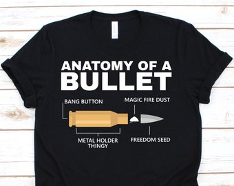 9f3b9f5c Gun Shirt • Anatomy of Bullet • Funny Gun Rights • 2nd Amendment • Gun  Owner Gift • Gun Art • Funny Gun Gifts • Gun Enthusiast Shirt