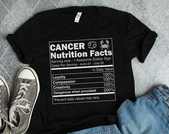 21e38f521 Cancer Shirt • Cancer Zodiac Shirt • Cancer Gift • Cancer Birthday Gift •  Cancer Zodiac Sign • Cancer Astrology Gift • Cancer Facts Shirt