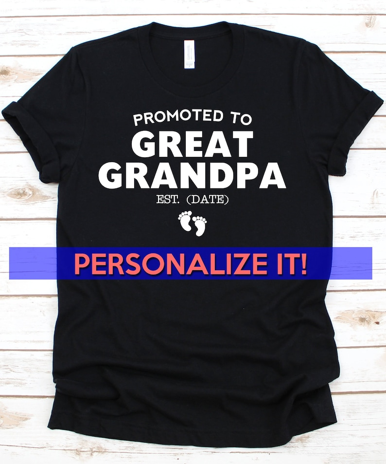 f3fea4c5 Great Grandpa Shirt Personalized Great Grandfather Gift | Etsy