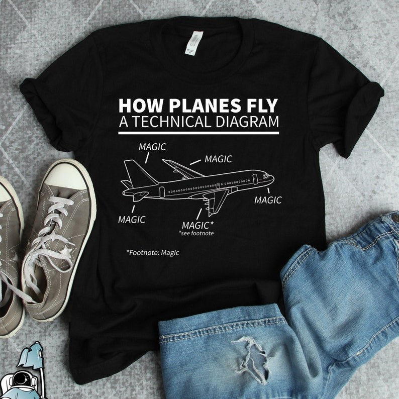 Aviation Shirt How Planes Fly Magic Flying Plane Flying image 0