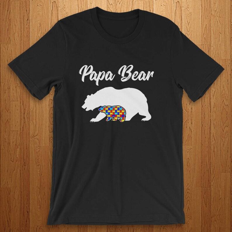 adaa9c4d Autism Dad Autism Shirt Autism Support Autism Parent Papa Bear   Etsy