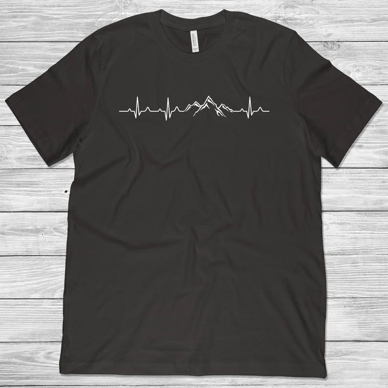 dff3d7f675b Hiking Heartbeat Shirt Hiking Shirt Hiking Gifts Hiker | Etsy