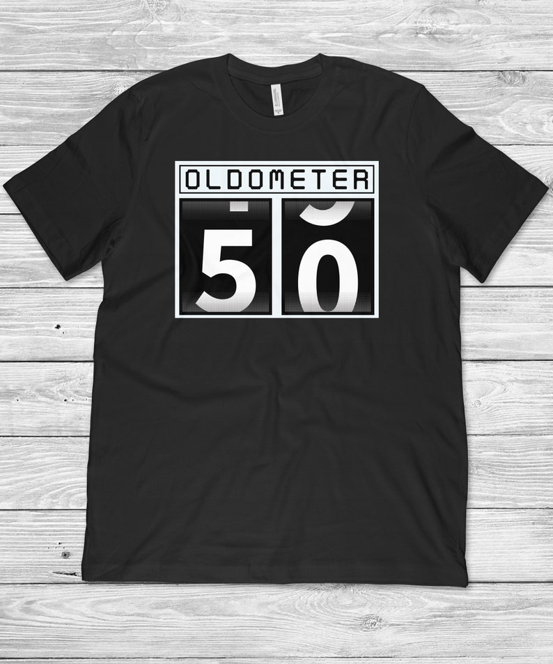 fee0b00ef Oldometer 50th Birthday 50 Years Old Funny 50th Birthday | Etsy