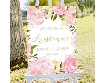 bridal shower welcome sign welcome to bridal shower sign pastel bridal shower sign floral bridal shower printable welcome bridal tea