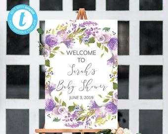 Lavender Baby Shower | Etsy