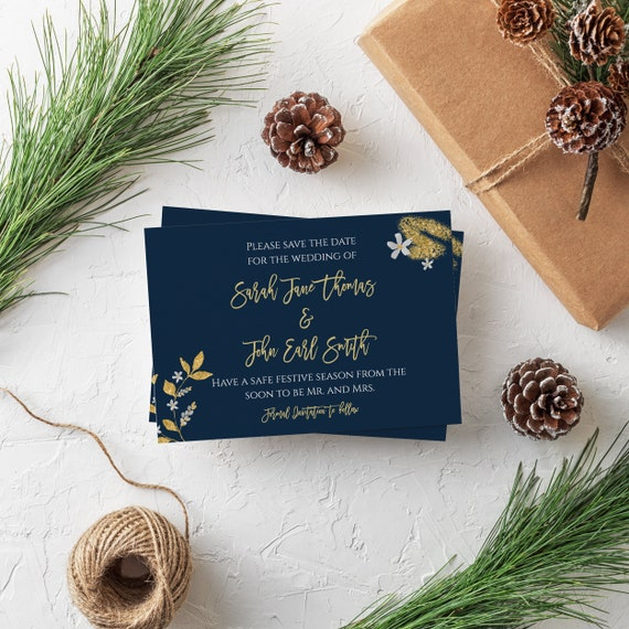 Christmas Save The Date.Christmas Save The Date Cards Editable Save The Dates Glitter Save The Date Gold Foil Christmas Wedding Cards Holiday Save The Date