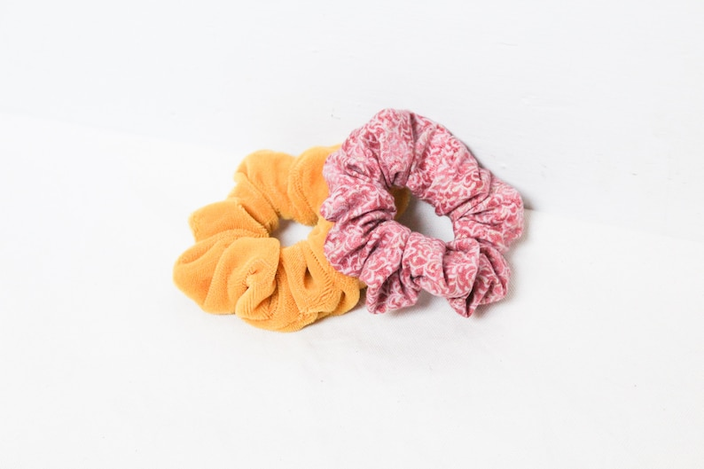 Fall Scrunchies Pack  Scrunchies For Fall  Yellow Scrunchies image 0