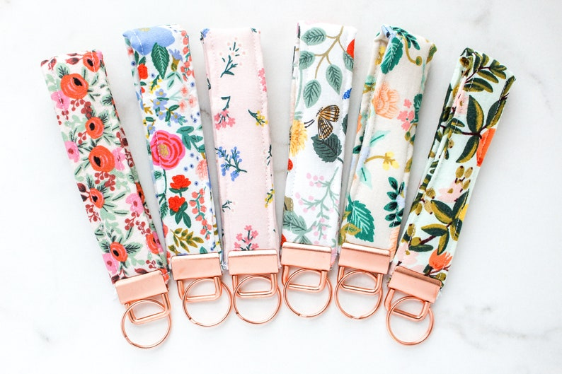 Rifle Paper Co. Key Fob Wristlet  Fabric Key Chain  Fabric image 0