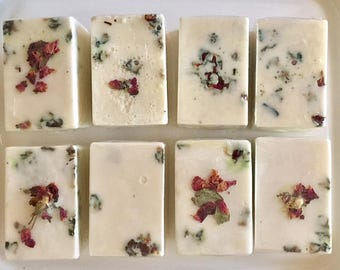 Exfoliating Soap Body Bar - Rose & Sea Salt - Cowtail Soap Bar