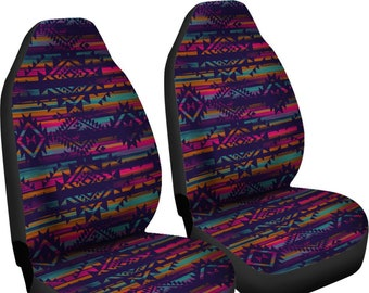 Belidome Boho Tribal Ethnic Elephant Galaxy Car Seat Covers Full Set Front and Bench Seats Mats Soft Washable Stretchy Decorations