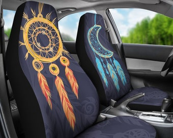 Protect Your Car Seats Sun Moon BoHo Auto Seat Covers For Vehicle Hippie Accessories Owner Gift