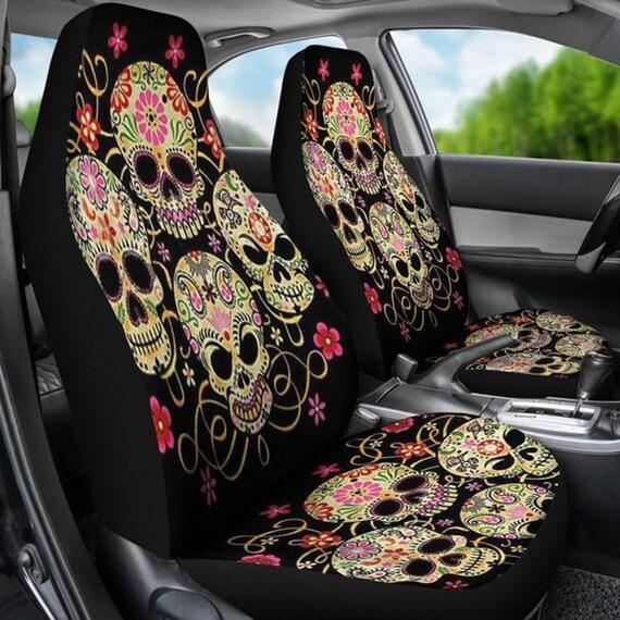 Strange Sugar Skull Car Seat Covers Calavera Day Of The Dead Sugar Skulls Sugar Skull Art Dia De Los Muertos Sugar Skull Pattern S16 Evergreenethics Interior Chair Design Evergreenethicsorg