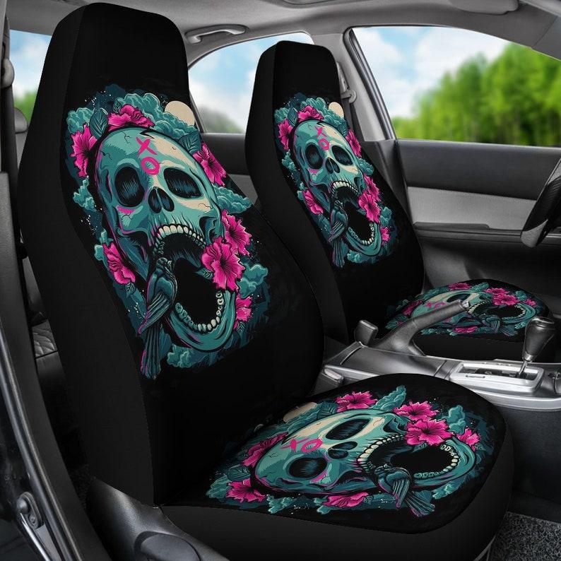 Phenomenal Sugar Skull Car Seat Covers Calavera Day Of The Dead Sugar Skulls Mexican Sugar Skull Art All Souls Day Dia De Los Muertos Candy Skull Machost Co Dining Chair Design Ideas Machostcouk