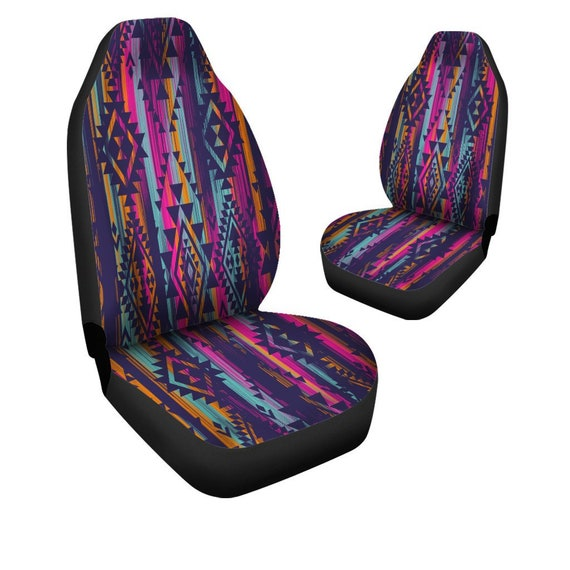 Aztec Car Seat Covers Pair 2 Front