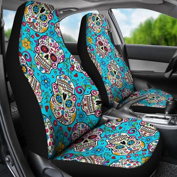 Superb Sugar Skull Car Seat Covers Calavera Day Of The Dead Sugar Skulls Mexican Sugar Skull Art All Souls Day Dia De Los Muertos S6 Evergreenethics Interior Chair Design Evergreenethicsorg