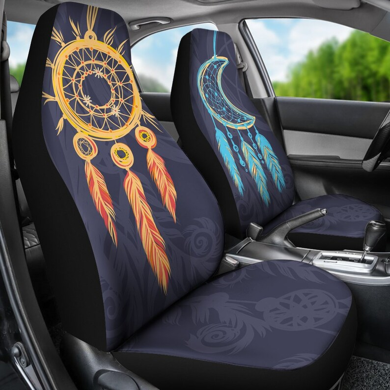 Sun And Moon Car Seat Covers Crescent Moon Sun And Moon Etsy