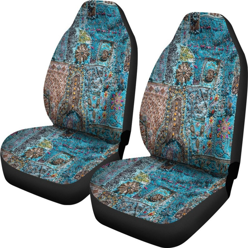 Boho Blue Car Seat Covers Cute Car Accessories Bohemian ...