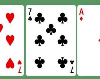 Line of 5 Playing Card Reading - Finances/Money or General