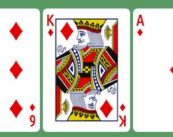 Line of 3 Playing Card Reading - Money/Finance or General