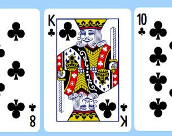Line of 3 Playing Card Reading - Career/Work or General