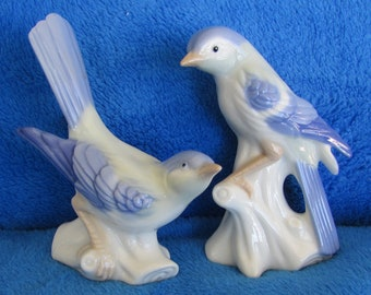 Vintage Bird porcelain figurines - Set of two