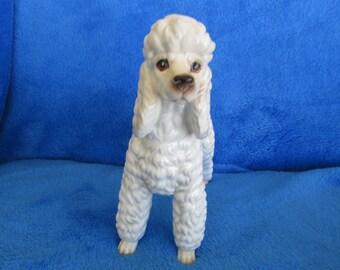 Vintage Poodle dog porcelain figurine