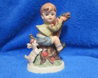 Vintage boy with dog porcelain figurine - Georgia Wills