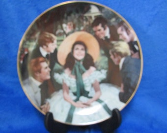 Vintage 1988 Collector Porcelain Plate Scarlett and her suitor's by Howard Rogers