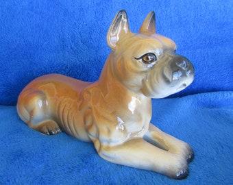 Vintage Boxer porcelain figurine