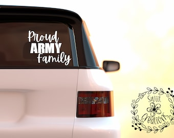 Proud Army Parents #3 Family Dad Mom Soldier Flag Car Sticker Window Vinyl Decal