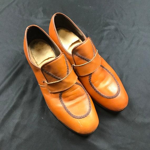 Vintage men's, 70's, disco shoes, loafers, dress s