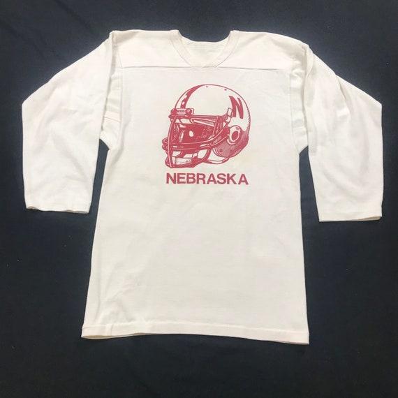 Vintage 80s, Nebraska Football, football helmet, j