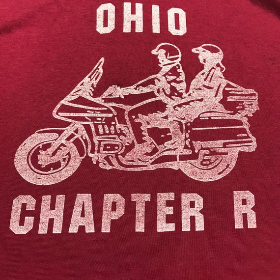 Vintage motorcycle shirt, Ohio, Chapter R,Motorcyc