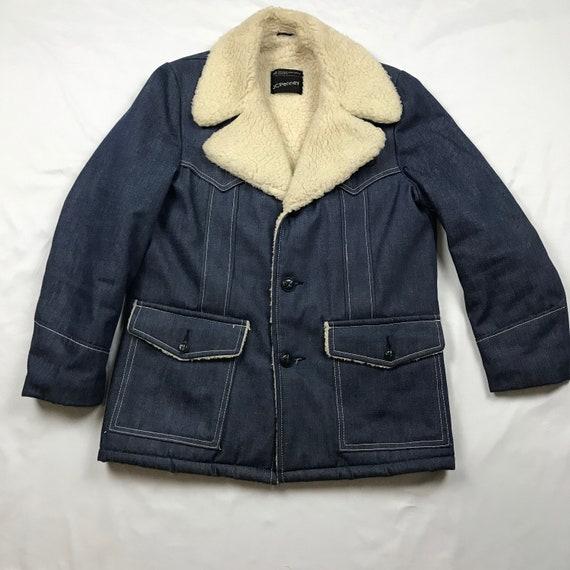 Vintage 70's, JCPENNEY sherpa jacket, sherpa coat,